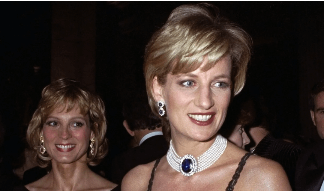 The Princess and The Pearls ~ Princess Diana's Pearl Choker with Sapphire Brooch Clasp