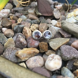Blue John round mini stud earrings