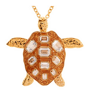 Mock Turtle Large Pendant in gold