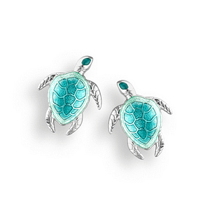 enamel turtle stud earrings