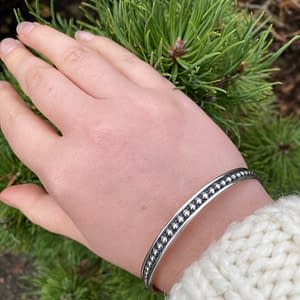 beaded silver bangle on LJ