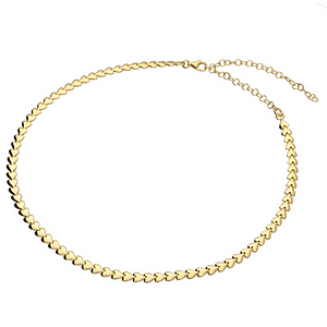 golden heart choker