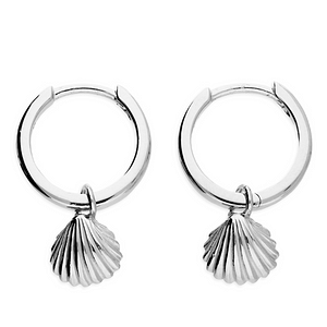 Cockle Shell Huggie Hoop Earrings