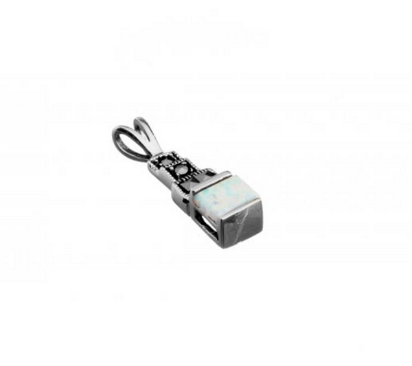 marcasite and opalite square step pendant ps