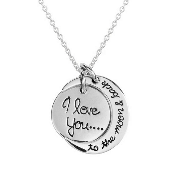 I love you to the moon & back pendant
