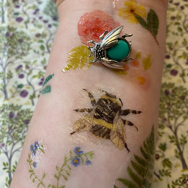 turquoise and marcasite bumblebee brooch