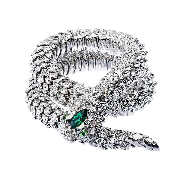 crystal snake necklace coiled