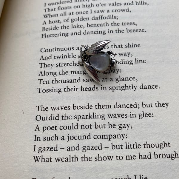m.o.p bee brooch on poem